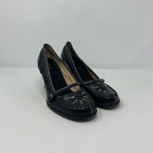 SO Faux Leather Mary Jane Pumps Womens Sz 8.5